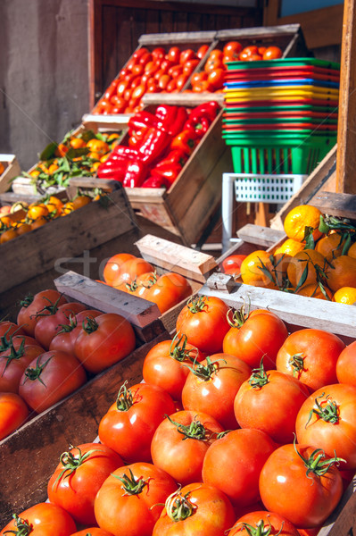 Kış hasat meyve açık pazar Uruguay Stok fotoğraf © xura