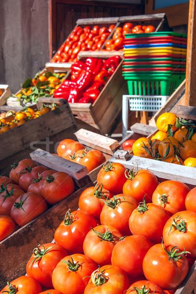 Inverno colheita fruto ao ar livre mercado Uruguai Foto stock © xura