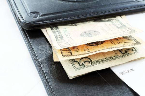 Verificar numerário café comida dólar moeda Foto stock © xura