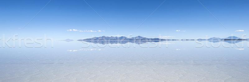 Salt lake Salar de Uyuni in Bolivia. The surface is about 10.000 Stock photo © xura