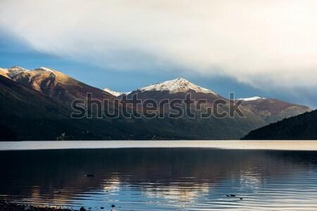 Sneeuw vulkaan meer Chili hemel water Stockfoto © xura