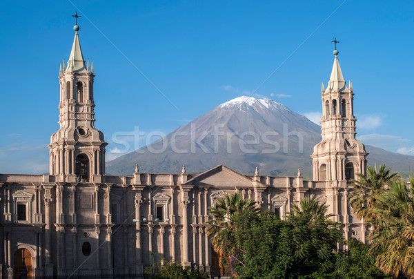 Volcano El Misti overlooks the city Arequipa in southern Peru Stock photo © xura