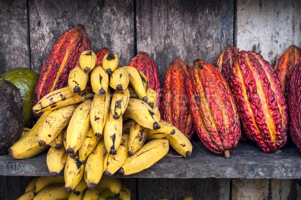 América latina frutas calle mercado Ecuador hoja Foto stock © xura