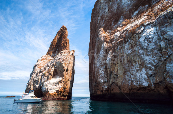 Cliff Kicker Rock, the icon of divers, the most popular dive, Sa Stock photo © xura