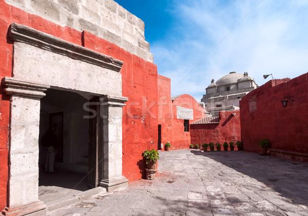 монастырь важный религиозных стены окна Сток-фото © xura