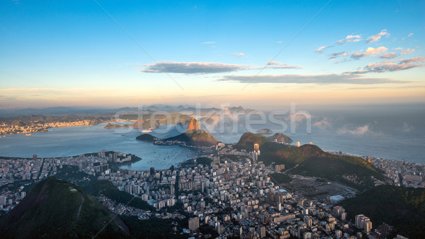 Rio de Janeiro, view from Corcovado to Sugarloaf Mountain Stock photo © xura