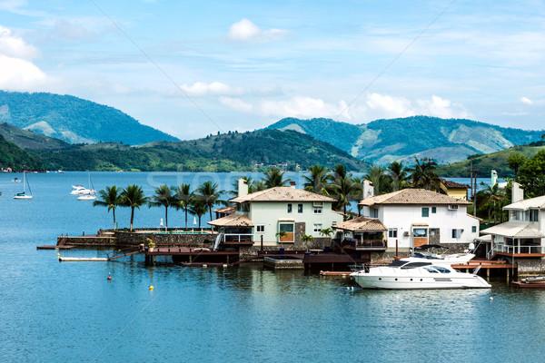 Tengerpart házak Rio de Janeiro Brazília természet óceán Stock fotó © xura