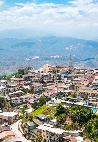Zaruma - Town in the Andes, Ecuador Stock photo © xura