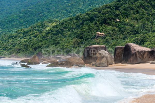 пляж Рио-де-Жанейро Бразилия пейзаж океана песок Сток-фото © xura
