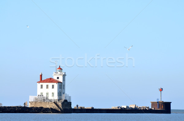 Fairport Harbor Lighthouse on Lake Erie Stock photo © xura