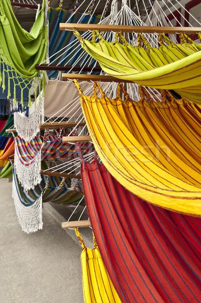 рынке место Эквадор синий белый шаблон Сток-фото © xura