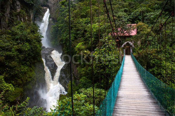 Mountain river and waterfall in the Andes Stock photo © xura