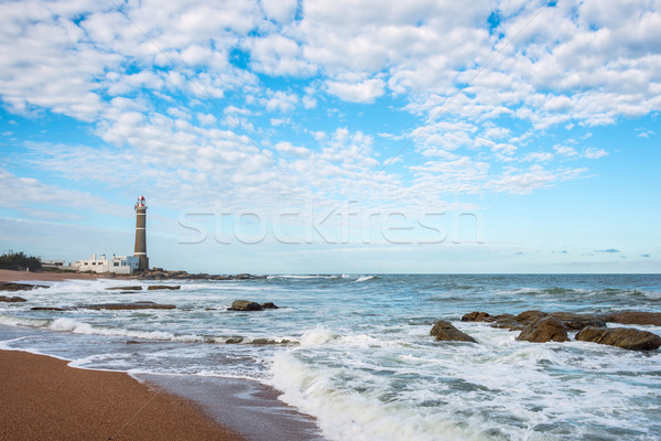 Маяк Уругвай пляж воды природы пейзаж Сток-фото © xura