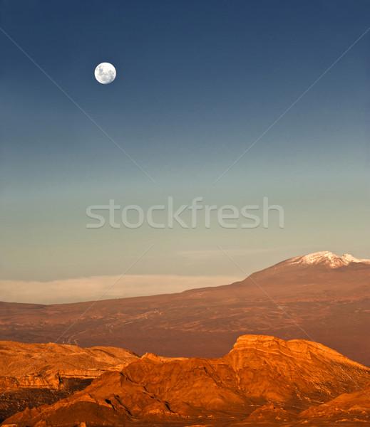 Full-moon in the Moon Valley, Atacama, Chile Stock photo © xura