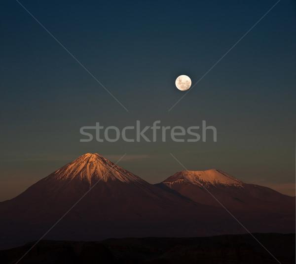 Full-moon in the Moon Valley. Atacama desert of Chile Stock photo © xura