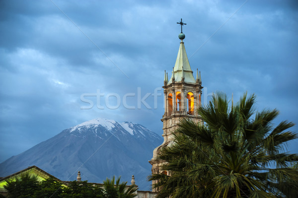 Volcano El Misti overlooks the city Arequipa in southern Peru. A Stock photo © xura