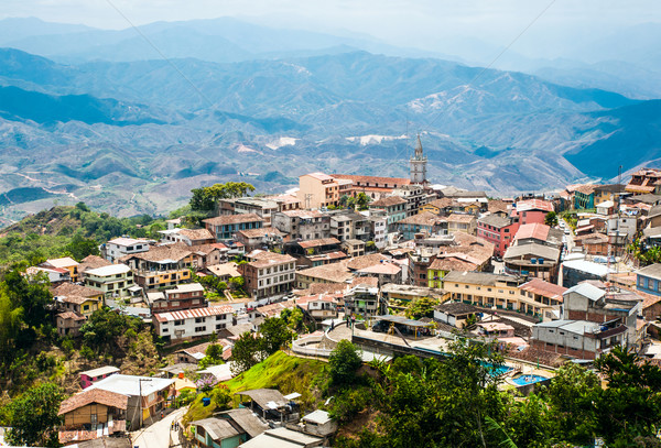 Zaruma - Town in the Andes, Ecuador  Stock photo © xura