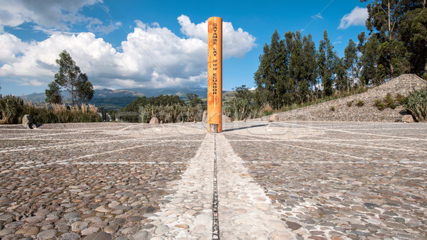 Ekvator hat nokta manzara bulut mimari Stok fotoğraf © xura