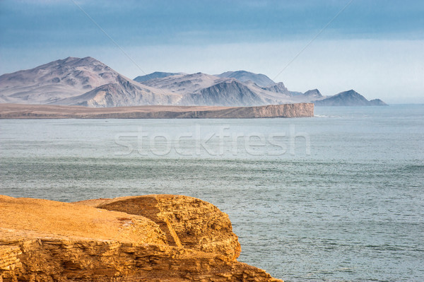 Peruvian Coastline, Rock formations at the coast, Paracas Nation Stock photo © xura