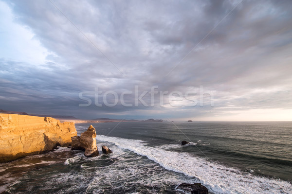 Cathedral Rock Formation, Peruvian Coastline, Rock formations at Stock photo © xura
