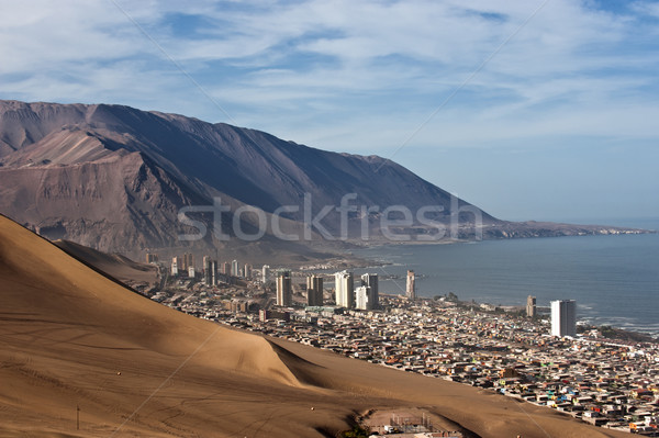 Mögött hatalmas dűne északi Chile régió Stock fotó © xura