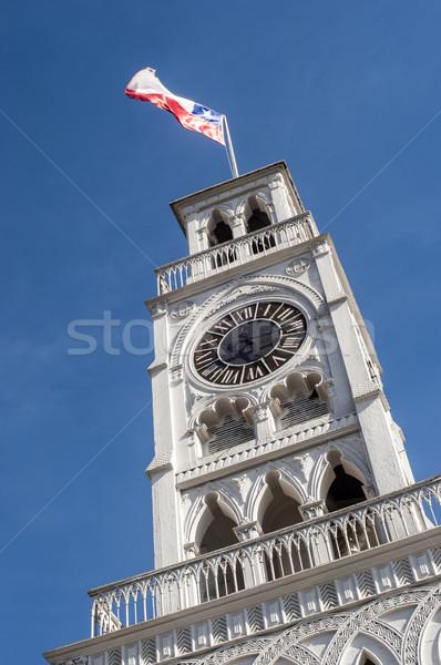 Relógio torre norte Chile porta cidade Foto stock © xura