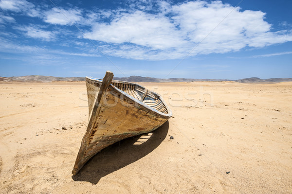 Boat in the desert, Paracas National Reserve, Ica Region, Peru Stock photo © xura