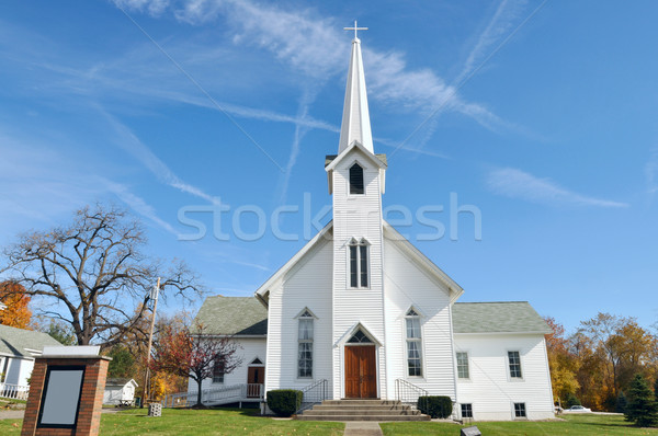 Rural Church, Midwest, Ohio, near Akron, USA Stock photo © xura