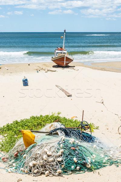 Plaj turist yer Uruguay sahil Stok fotoğraf © xura