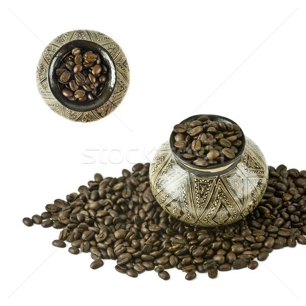 кофе Южной Америке кувшин фон черный Сток-фото © xura