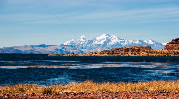 Göl yan kuzey son yüksek sınır Stok fotoğraf © xura