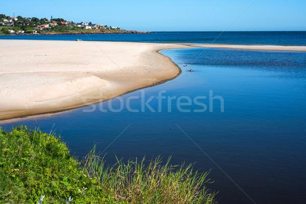 ビーチ 町 ウルグアイ 海岸 水 建物 ストックフォト © xura