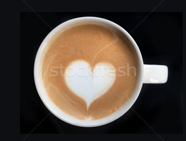Stockfoto: Beker · kunst · koffie · hart · symbool