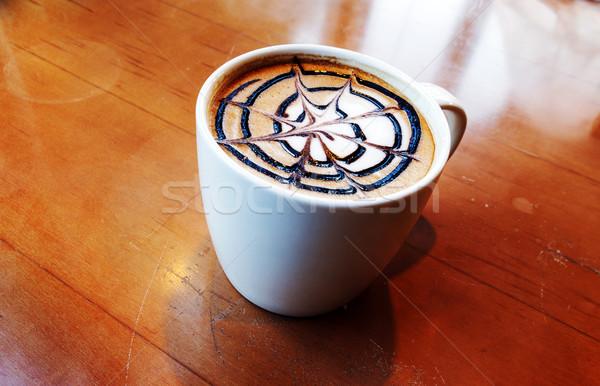 latte art in mug Stock photo © yanukit