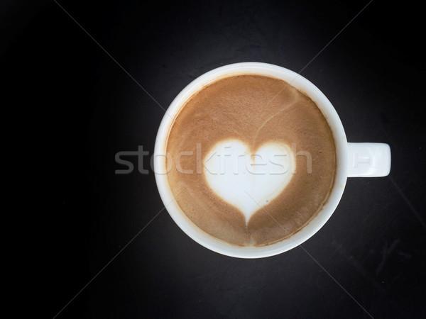 Кубок искусства кофе темно продовольствие любви Сток-фото © yanukit