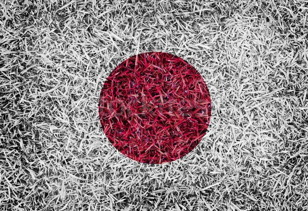 Japan Flag color grass texture background Stock photo © yanukit