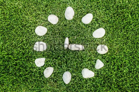 circle of stone decoration concept   Stock photo © yanukit