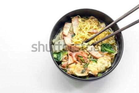 Kókusztej gomba keverék zöldség fűszeres thai étel Stock fotó © yanukit