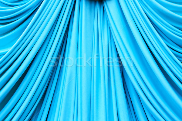 Cyans curtain texture Stock photo © yanukit
