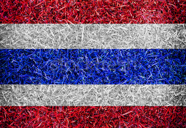 Stock photo: Thailand Flag color grass texture background