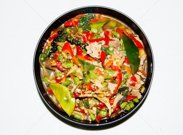 辛い カラフル メニュー タイ料理 スタイル 食品 ストックフォト © yanukit