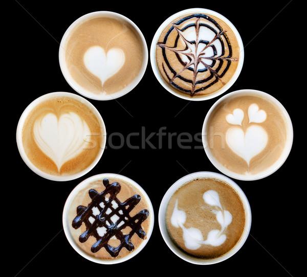 искусства кружка дизайна керамической кофе Сток-фото © yanukit
