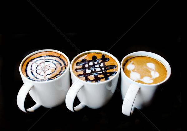 latte art design in mug Stock photo © yanukit