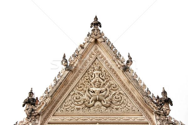 Thai temple antique archway at Petchaburi,Thailand Stock photo © yanukit