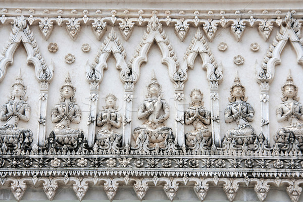 Thai pattern architecture detail in buddist temple Stock photo © yanukit