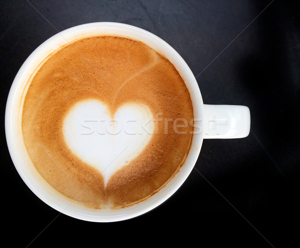 Stock photo: cup of latte art coffee