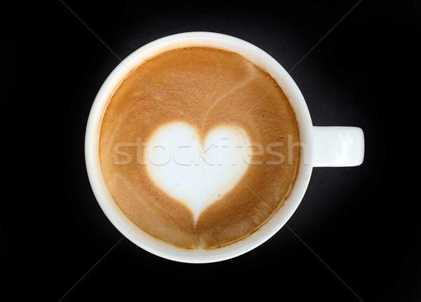 Cup of latte art coffee heart symbol Stock photo © yanukit