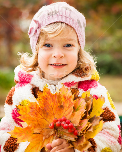 Child in autumn Stock photo © Yaruta