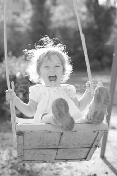 Playing on the swings after summer rain Stock photo © Yaruta