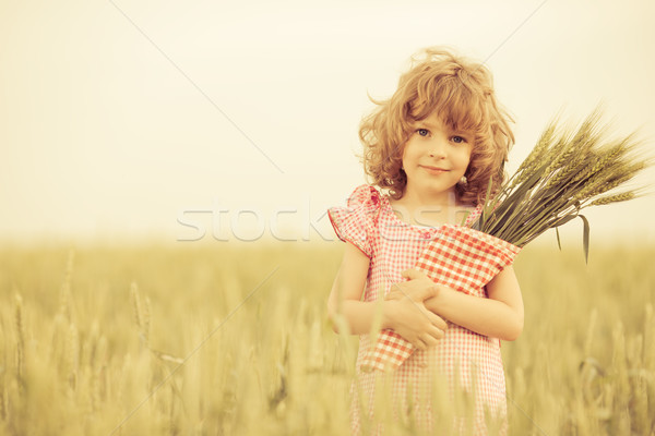 Happy child in autumn Stock photo © Yaruta